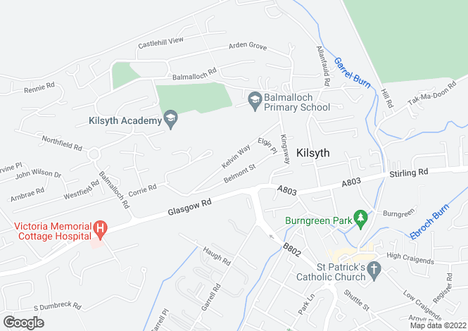 Map for 61, Kelvin Way, 