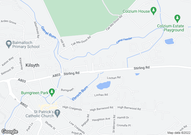 Map for The Doon at Burngreen Brae, Kilsyth,