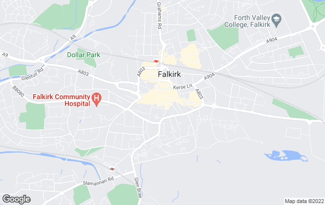 Map for Russel and Aitken, Falkirk