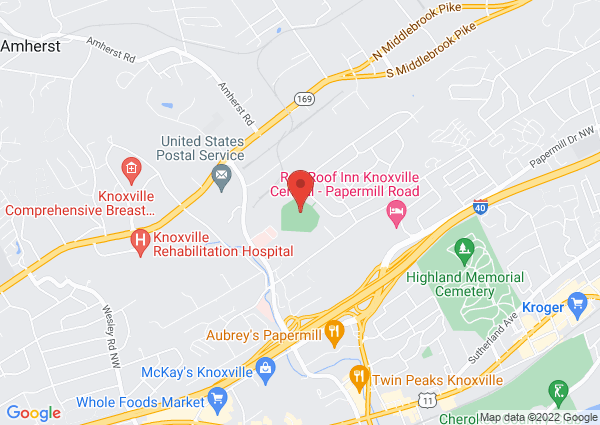 Map of 5535 Lonas Drive, Knoxville, TN, USA
