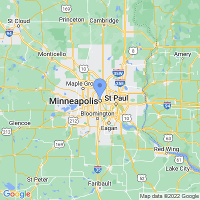Map of truck driving jobs in Minneapolis, Minnesota