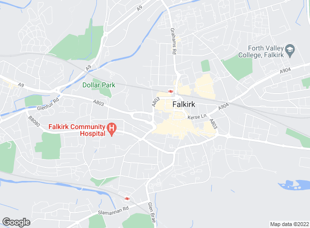Map for Marshall Wilson, Falkirk