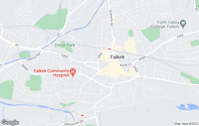 Map for Gair & Gibson, Falkirk