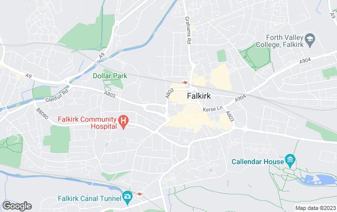 Map for Marshall Wilson, Falkirk