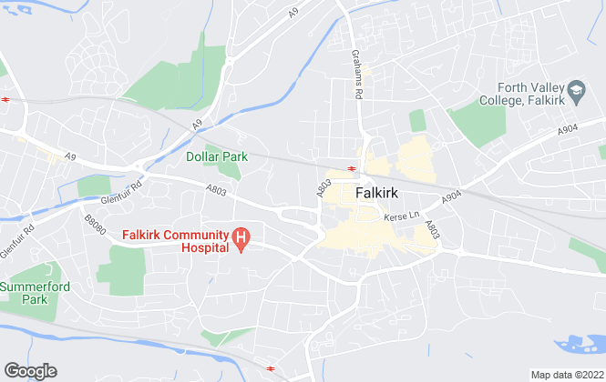 Map for DM Hall , Falkirk