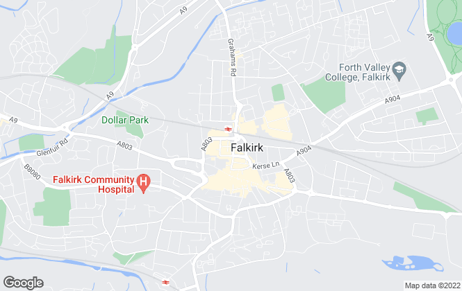 Map for Belvoir, Falkirk