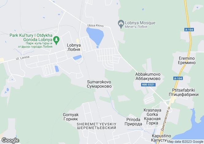 Map for Moskovskaya Oblast`, Lobnya