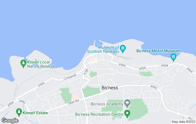 Map for Caesar & Howie, Bo'Ness