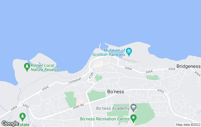 Map for Liddle & Anderson, Bo'Ness