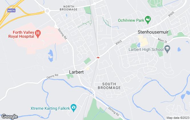 Map for Ian Gray Estate Agents, Larbert