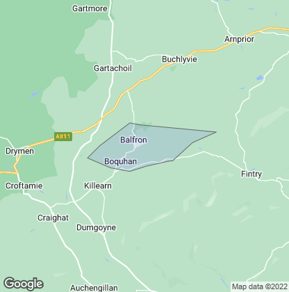 Map of property in Balfron