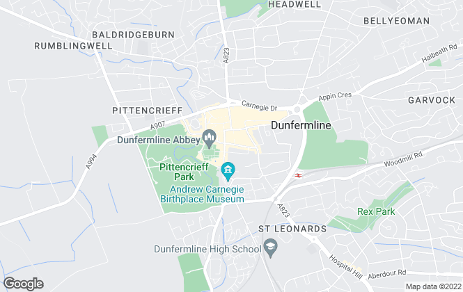 Map for DM Hall , Dunfermline