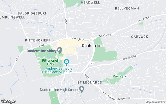 Map for Ross & Connel, Dunfermline