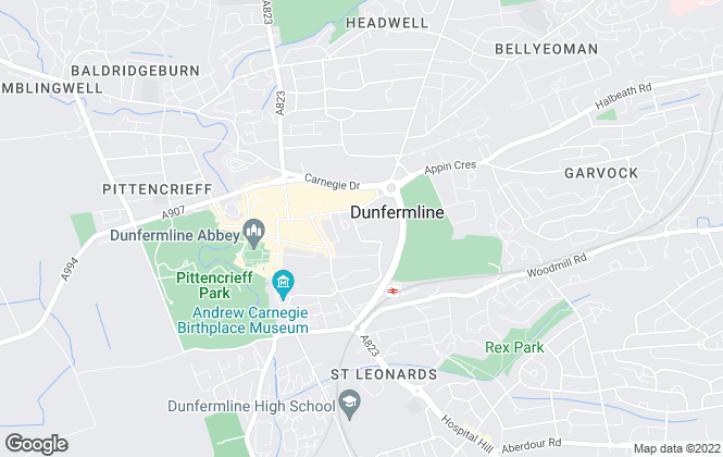 Map for Abbey Forth Property Management, Dunfermline