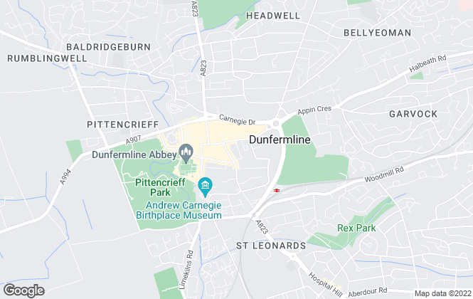 Map for Malcolm Jack & Matheson, Dunfermline