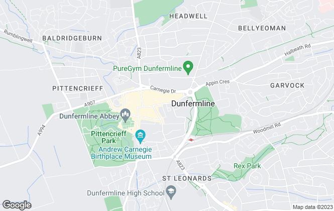 Map for Morgans, Dunfermline