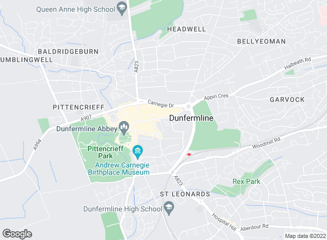 Map for Morgans, Dunfermline