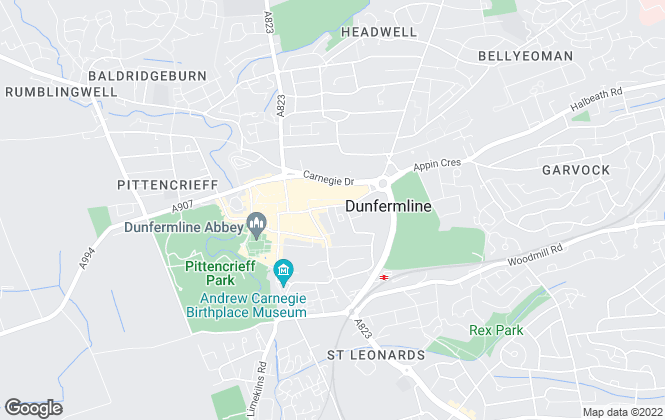 Map for Stevenson & Marshall, Dunfermline