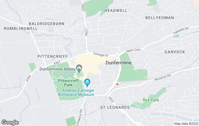 Map for Macbeth Currie, Dunfermline