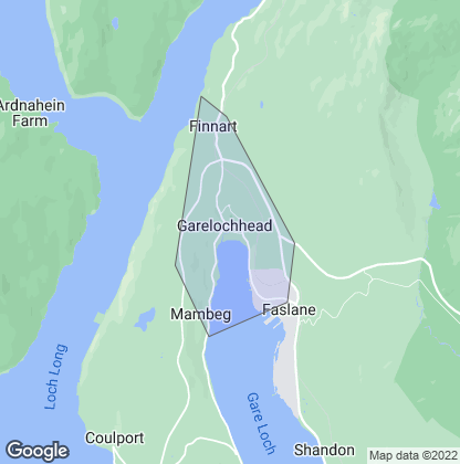 Map of property in Garelochhead