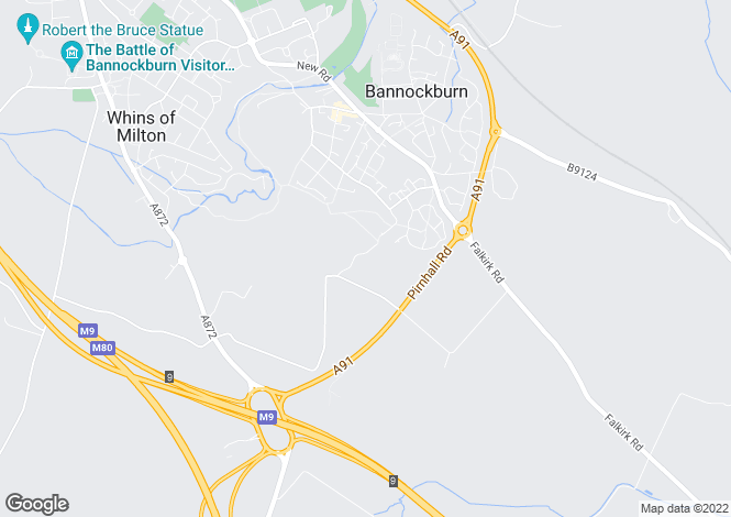 Map for Drewamgar Muiralehouse Road, Bannockburn, Stirling, FK7 8AB