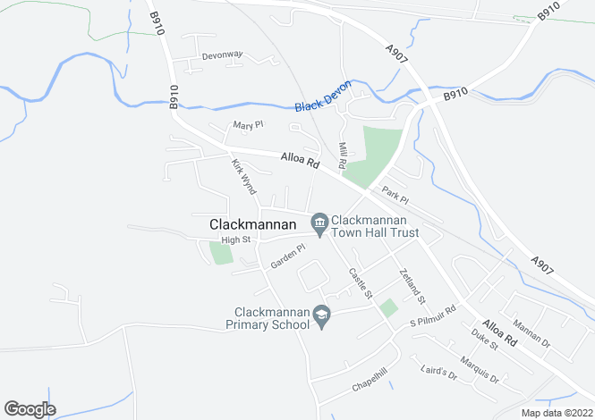 Map for North Street, Clackmannan, Clackmannanshire