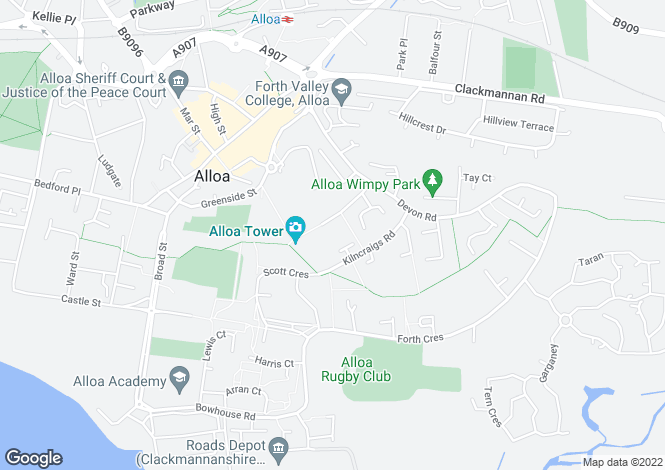 Map for Tower Square, Alloa, FK10 1PL
