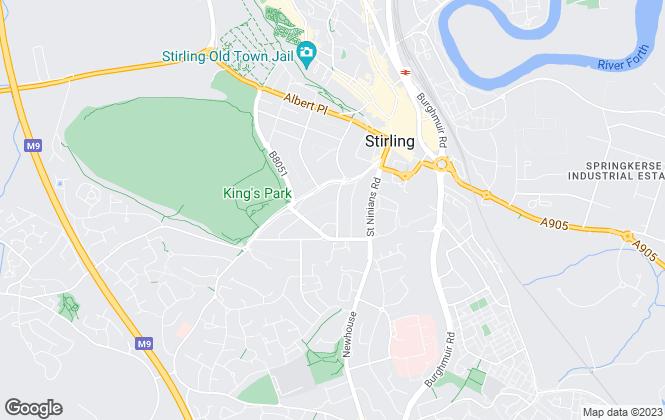 Map for ewan campbell estate agents, Stirling