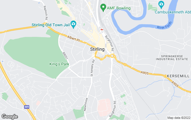 Map for Paul Rolfe Sales and Letting, Stirling