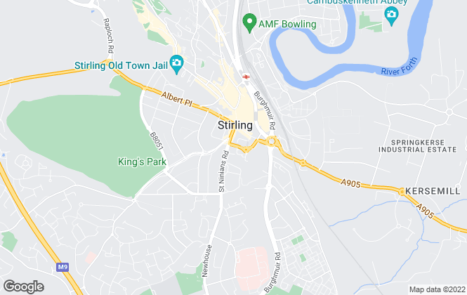 Map for Allen & Harris, Stirling