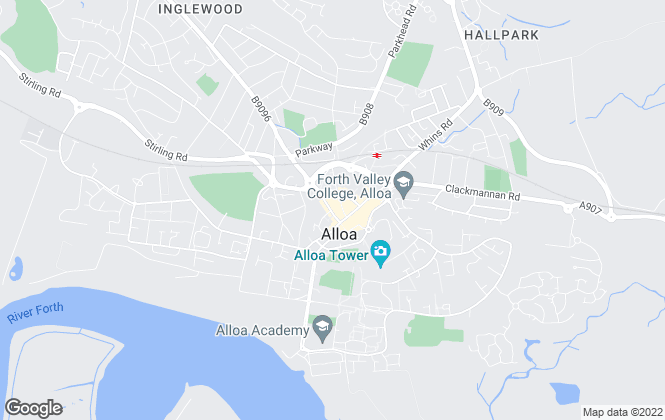 Map for County Estates, Alloa