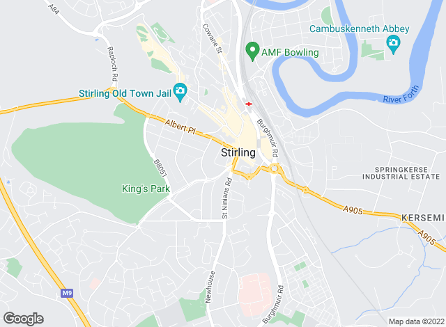Map for The Property Bureau, Stirling