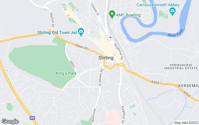Map for Clyde Property, Stirling