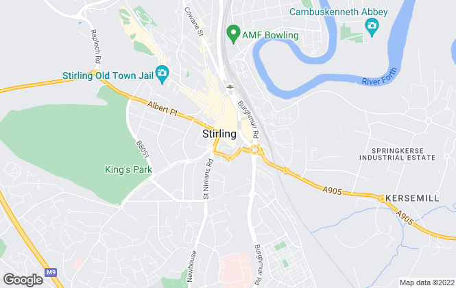 Map for JWM Estate Agents, Stirling