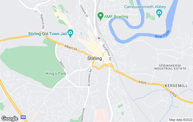 Map for Bastion Property Management Ltd, Stirling