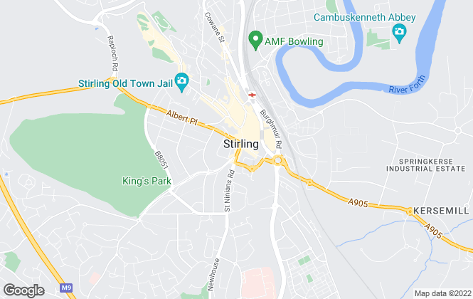 Map for B-Spoke Property, Stirling