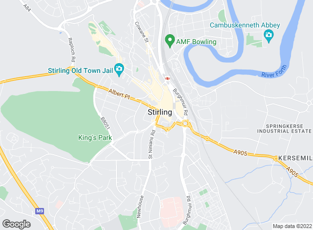 Map for Slater Hogg & Howison Lettings, Stirling