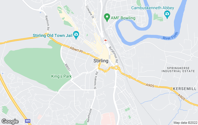 Map for Slater Hogg & Howison, Stirling