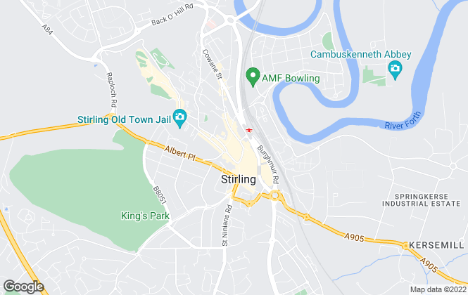 Map for Homes For U, Stirling