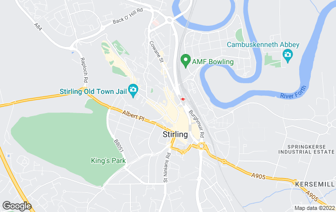 Map for The Stirling Property Shop, Stirling