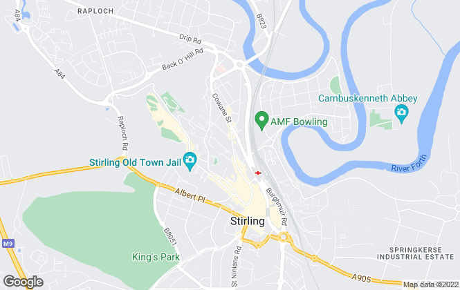 Map for Belvoir! Lettings, Stirling
