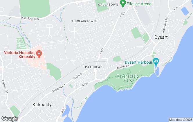 Map for Murray Properties, Kirkcaldy