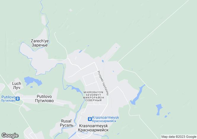 Map for Moskovskaya Oblast`, Krasnoarmeysk