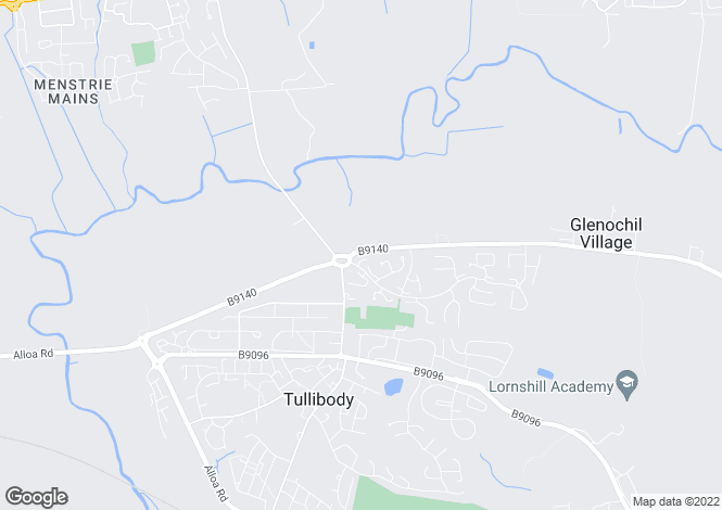 Map for Finglen Crescent, Tullibody