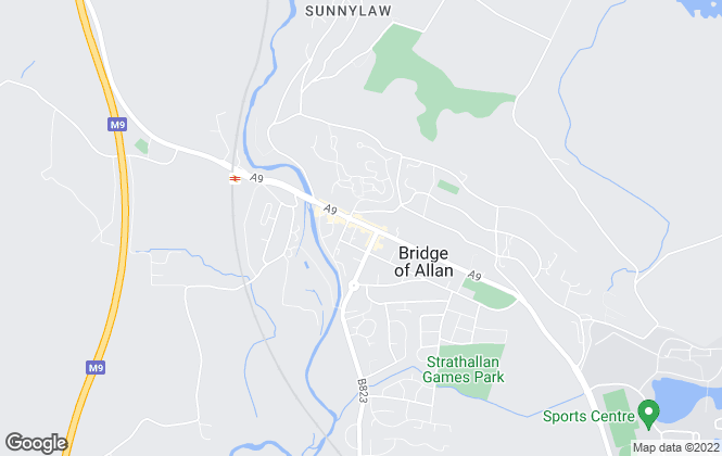 Map for Halliday Homes, Bridge Of Allan
