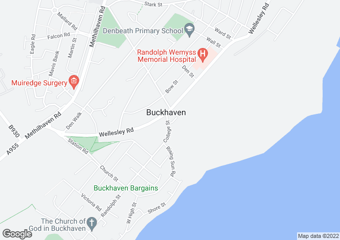 Map for FLAT 9, 63 College Street, Buckhaven, LEVEN, Fife
