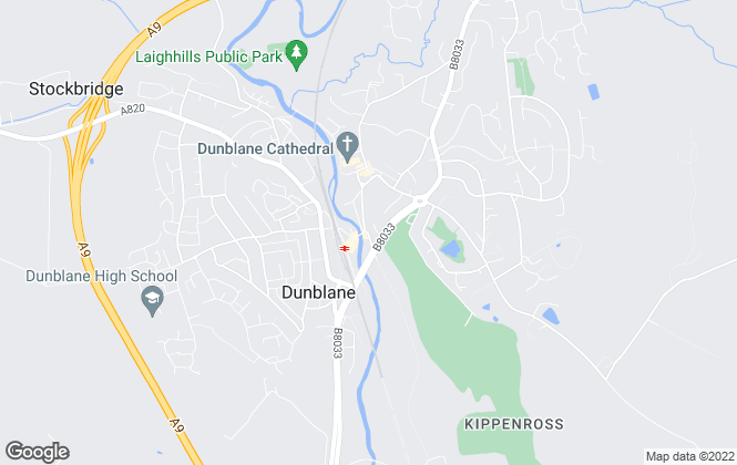Map for Cathedral City Estates, Dunblane