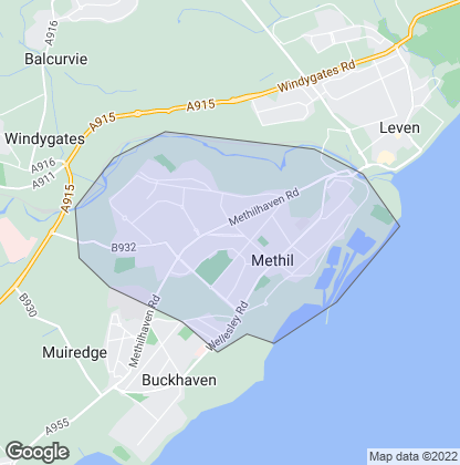 Map of property in Methil