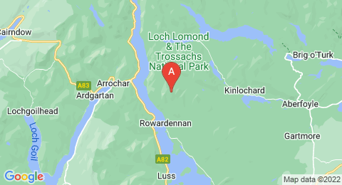 map of Ben Lomond (United Kingdom)
