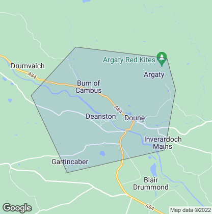 Map of property in Doune